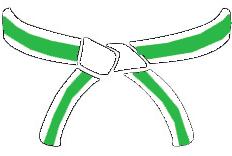 WHITE GREEN BELT