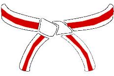 WHITE RED BELT